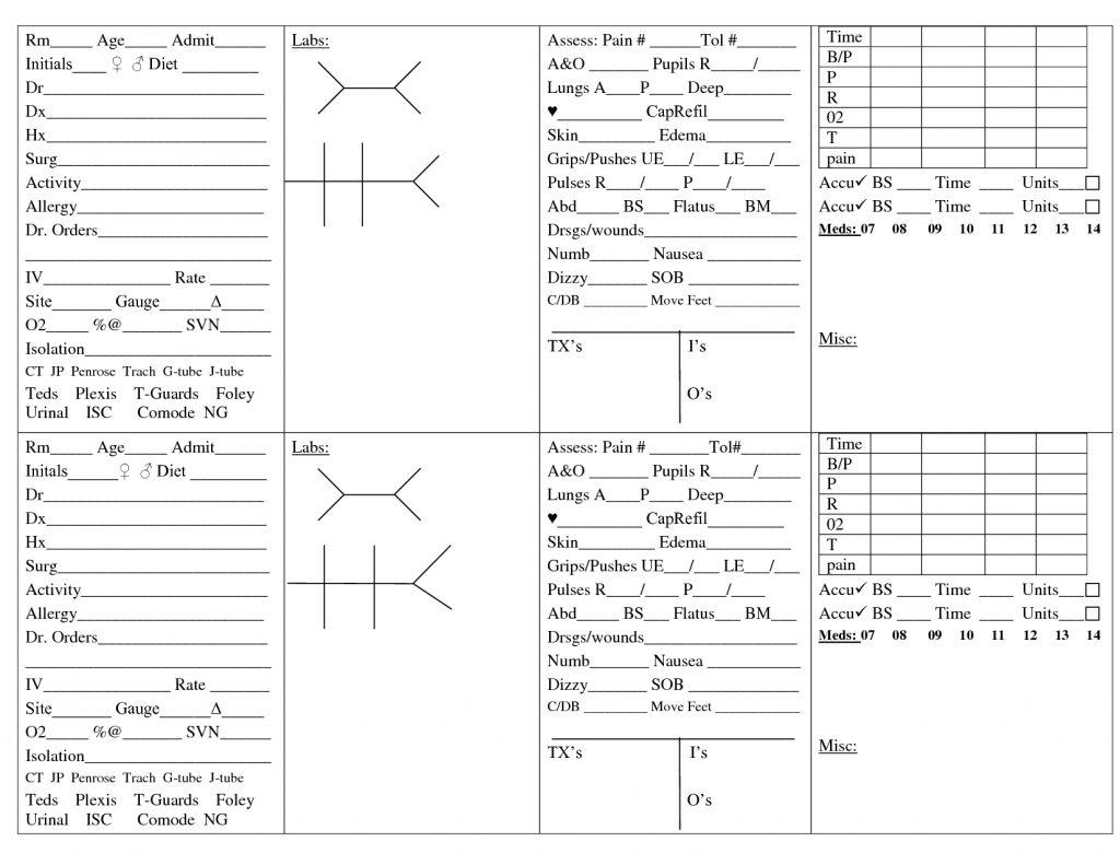Nurse Brain Sheet
