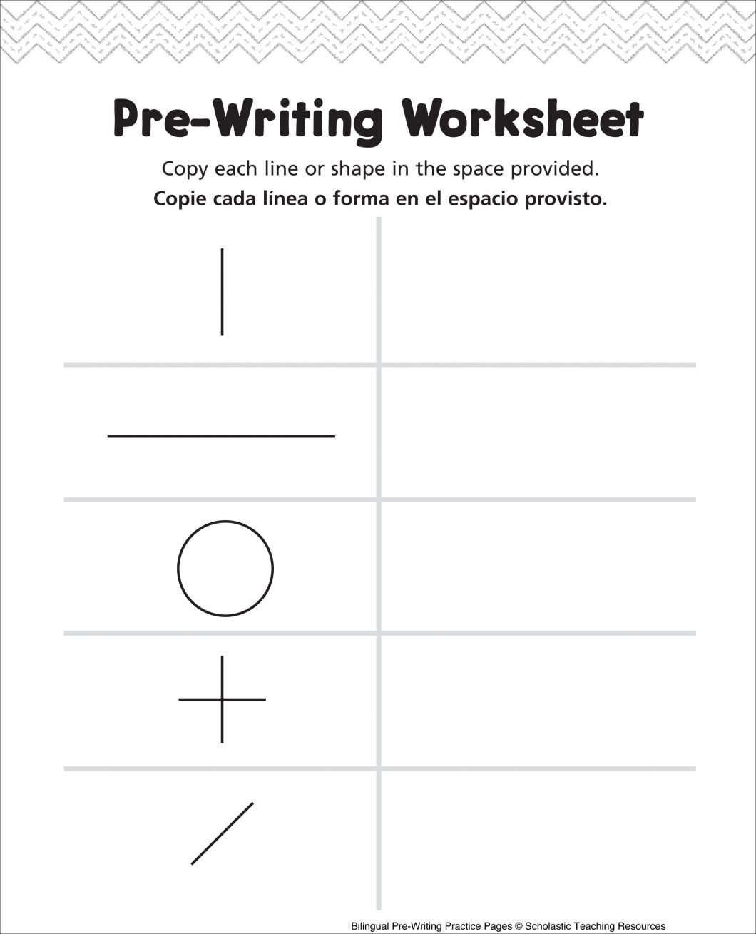 Pre K Writing Worksheets With For Kg1 Also Printable