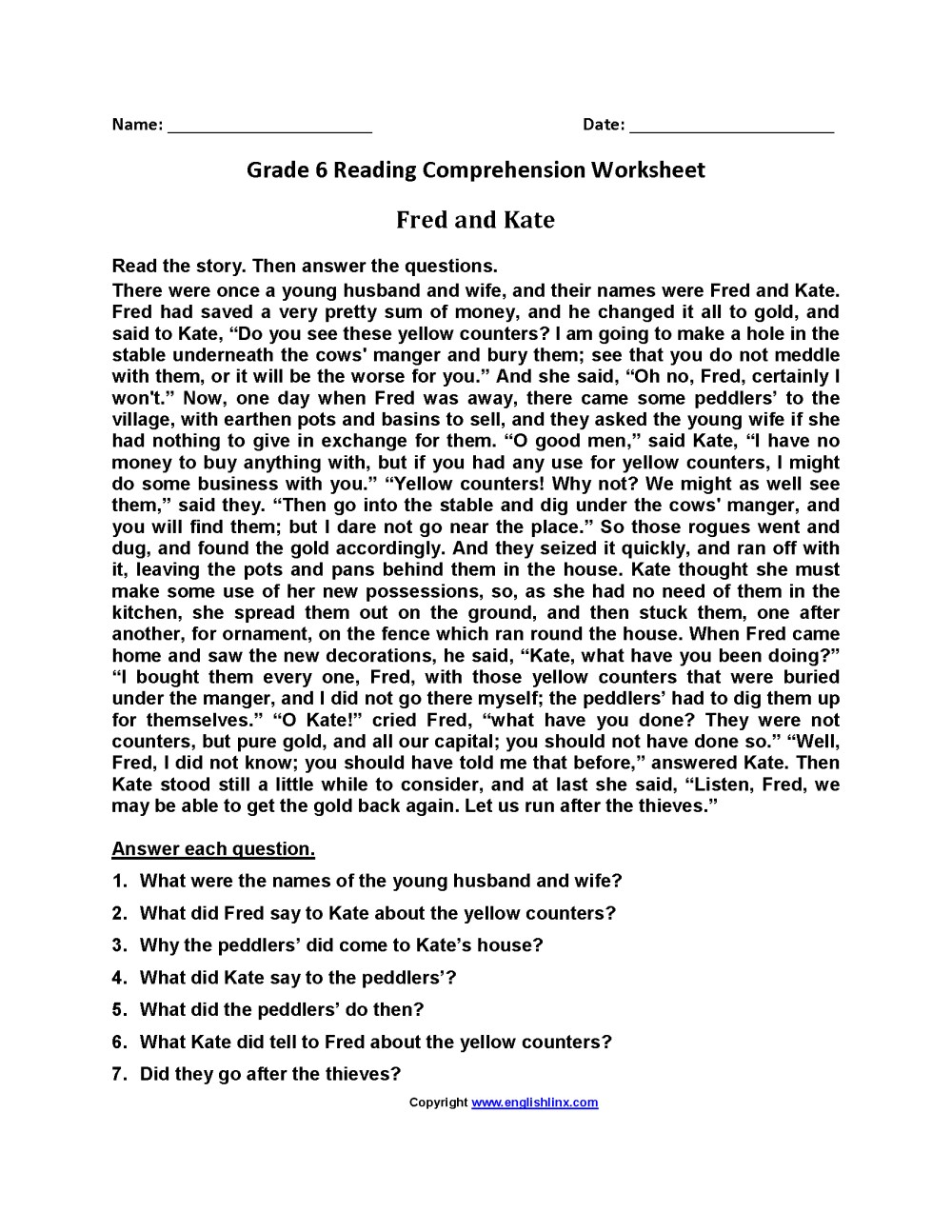 medium resolution of P3 English Worksheets   Printable Worksheets and Activities for Teachers