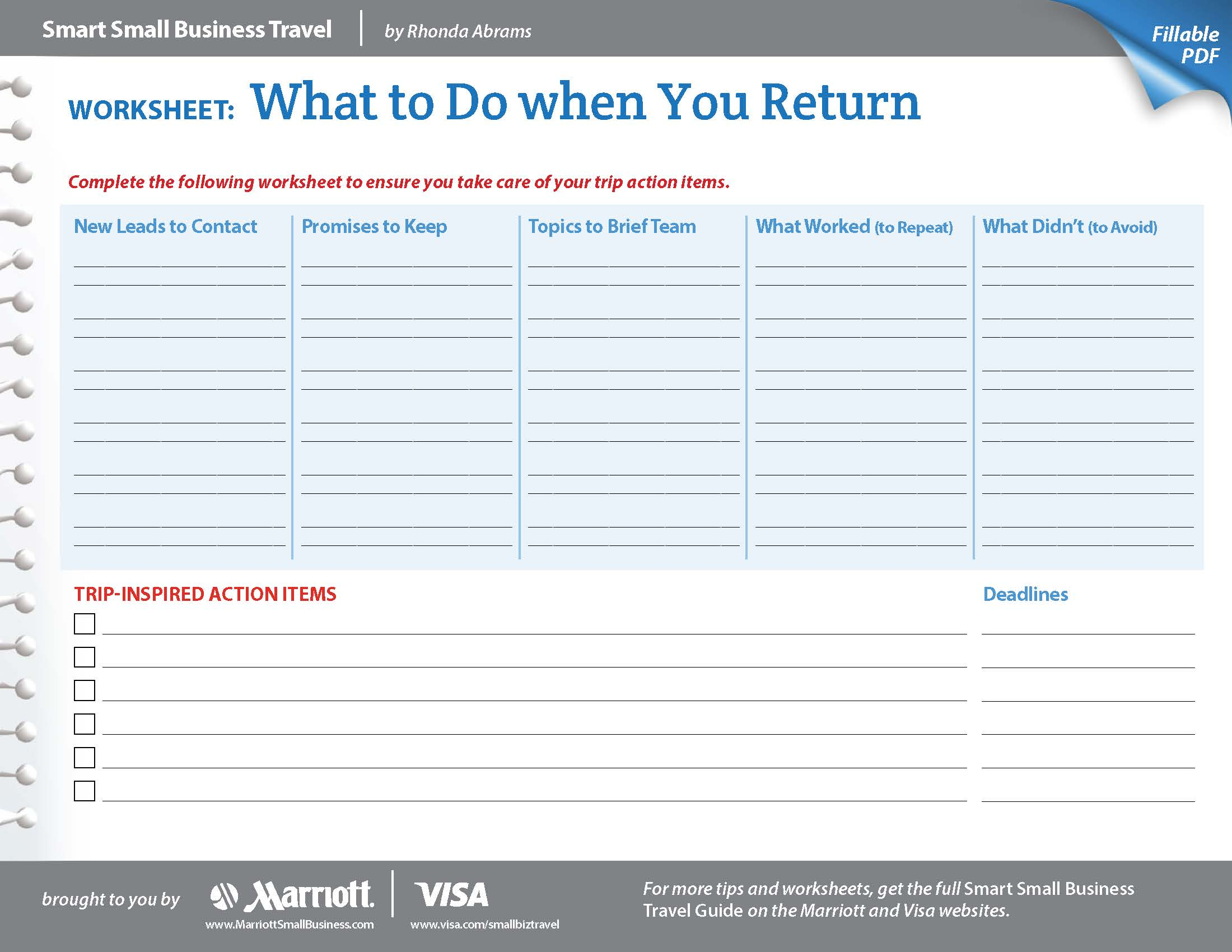 Business Goal Setting Worksheet