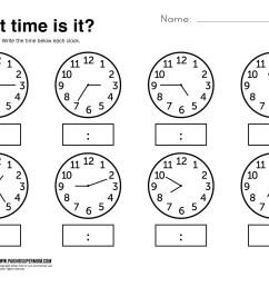 Simple Clock Worksheet   Printable Worksheets and Activities for Teachers [ 2164 x 2805 Pixel ]