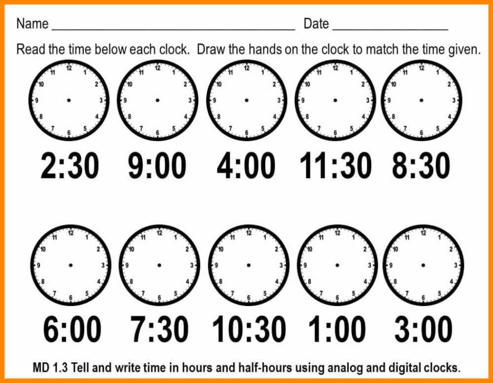 medium resolution of Telling Time By 5s Worksheet   Printable Worksheets and Activities for  Teachers
