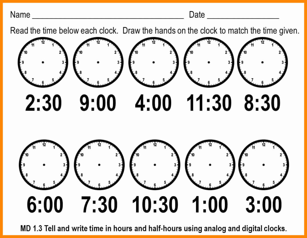 hight resolution of Telling Time By 5s Worksheet   Printable Worksheets and Activities for  Teachers