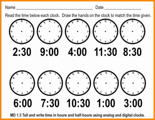 small resolution of Telling Time By 5s Worksheet   Printable Worksheets and Activities for  Teachers