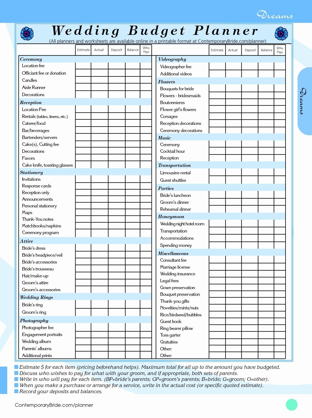 Checklist Template Samples Wedding Cost Swanky Weddings