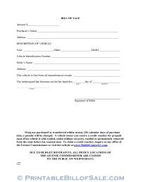 Free Mobile County Alabama Motor Vehicle Bill of Sale Form ...