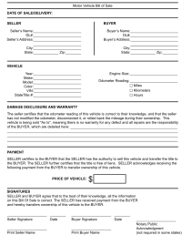 Free Kentucky Generic Bill of Sale Form - Download PDF | Word
