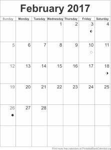 downloadable february 2017 calendar