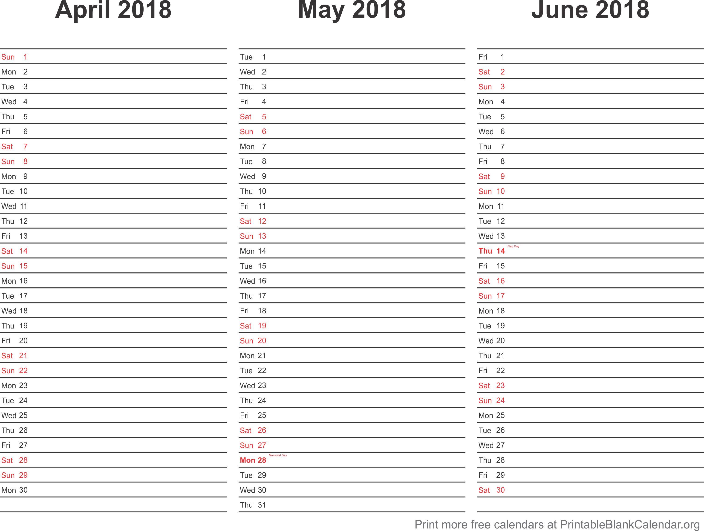 2018 Calendar Planner 2 Printable Blank Calendar Org