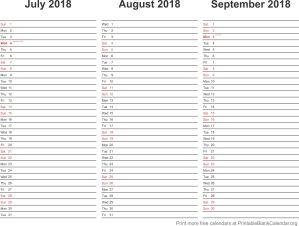 2018 calendar planner 3