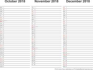 2018 calendar planner 4