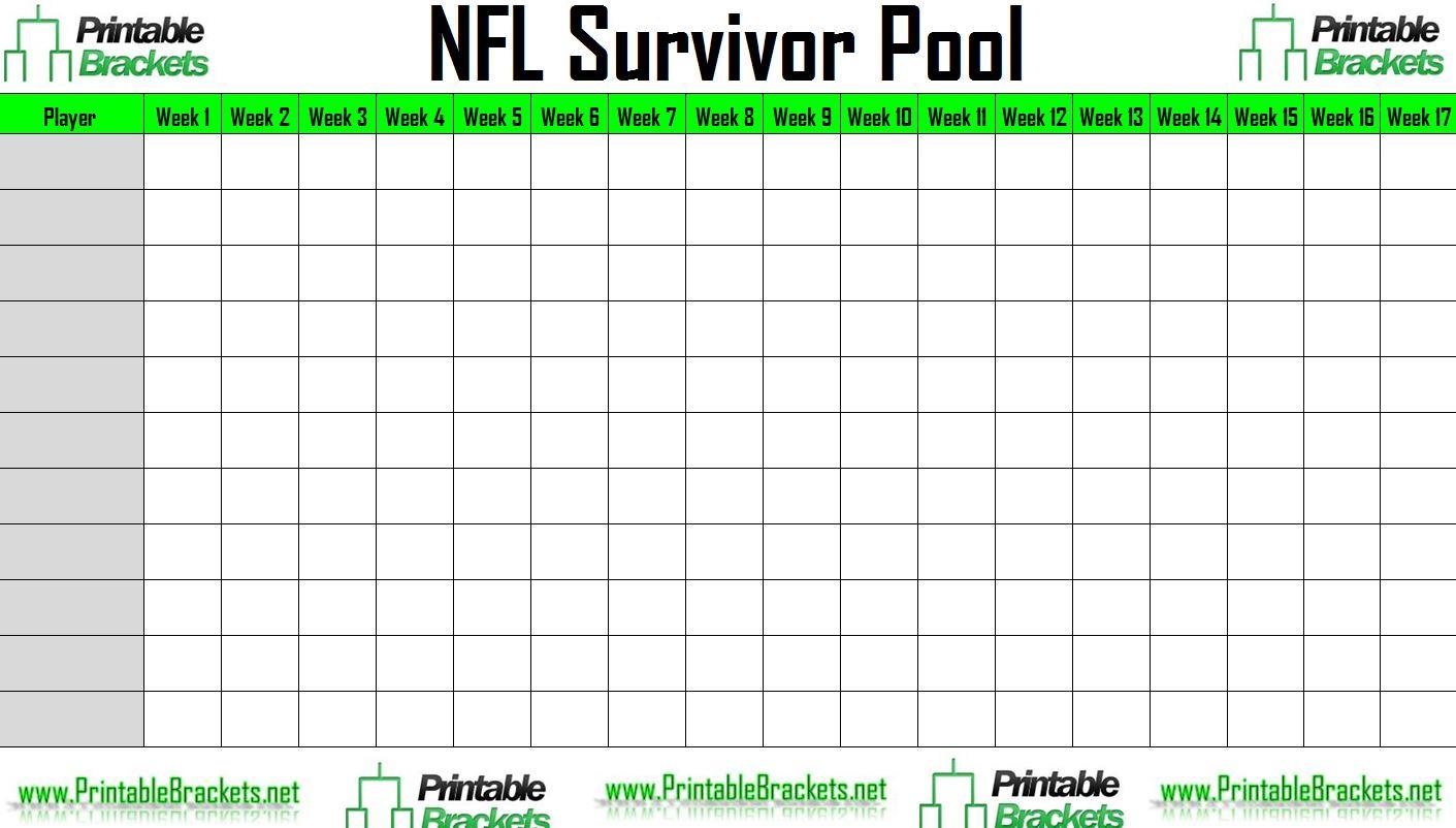 NFL Survivor Pool  NFL Suicide Pool