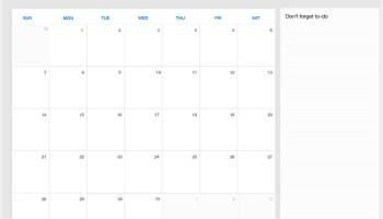 Free Blank December 2019 Calendar Printable Template in PDF
