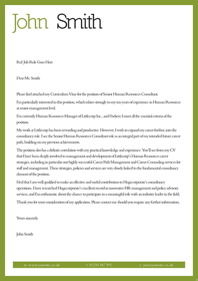 Cover letter template examples  Printable Calendar Templates