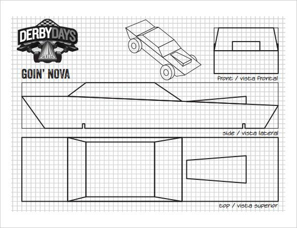 25 Pinewood Derby Templates For Cars Design Printable