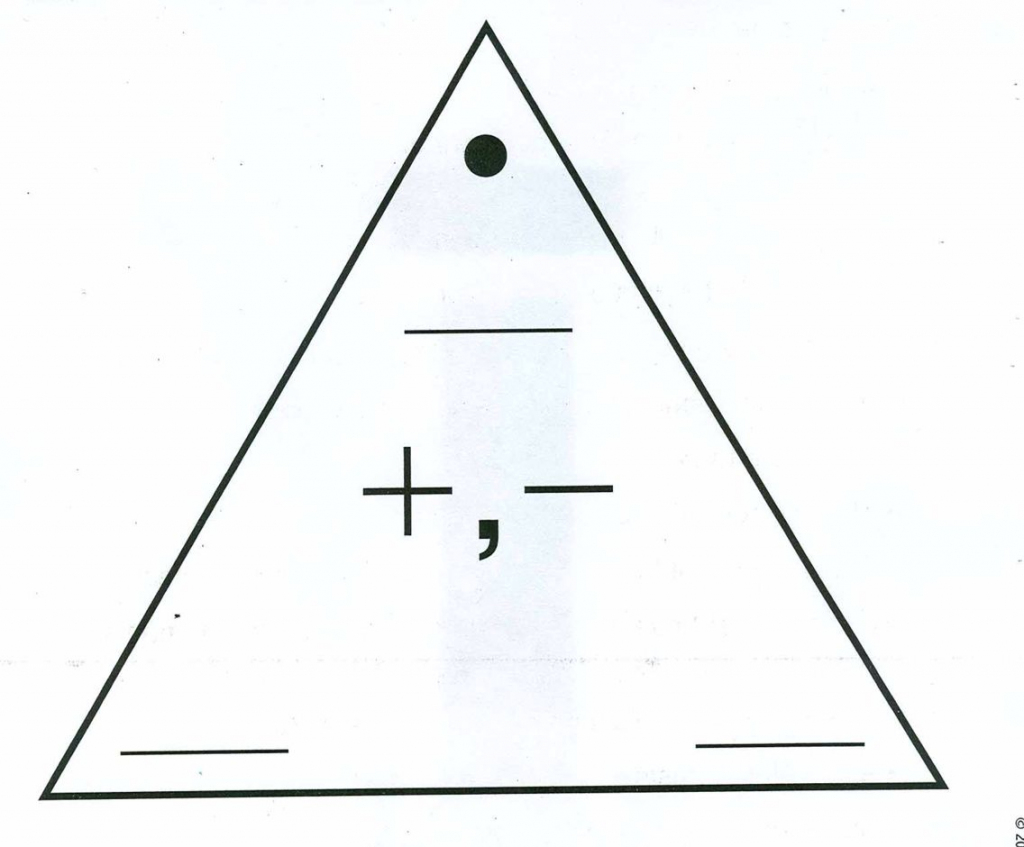 Triangle Flash Cards Addition And Subtraction Printable
