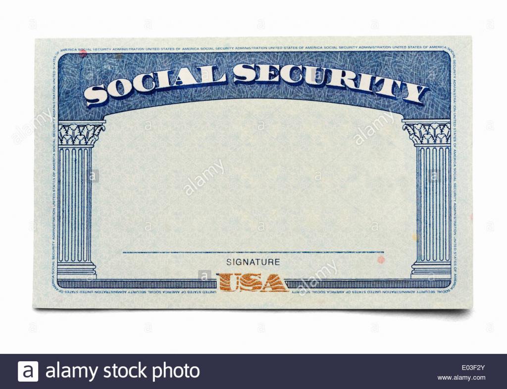 Printable Social Security Card Template