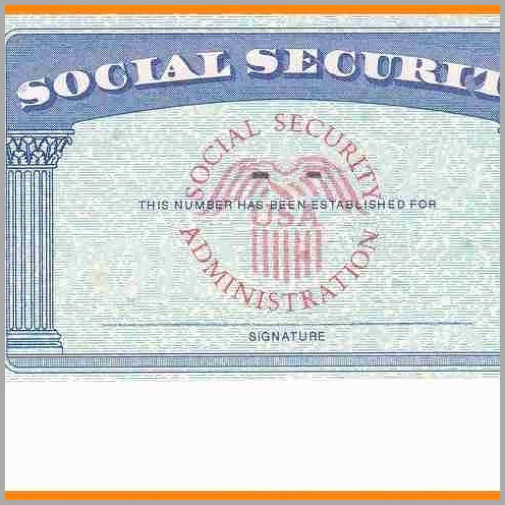 Printable Social Security Card Template