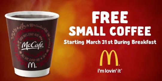 Free McDonalds McCafe Coffee  Printable Coupons Online
