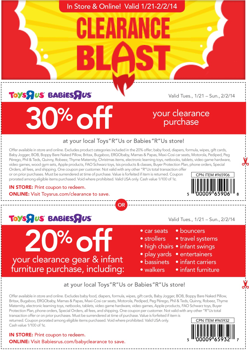 20 Off Babies R Us Online : babies, online, Babies, Coupons, Promotional, Printable, Online
