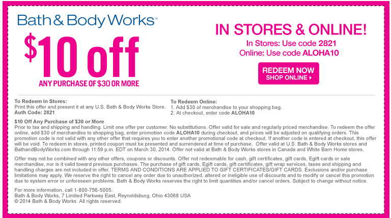 Codes Coupon And Bath Body