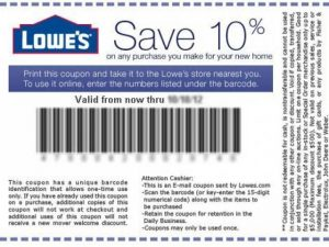 Lowes 10 Percent Off Coupon