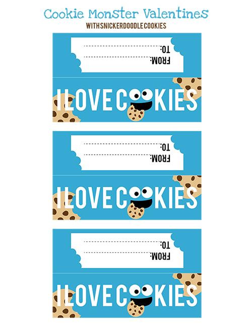 Cookie Monster Valentine Printables