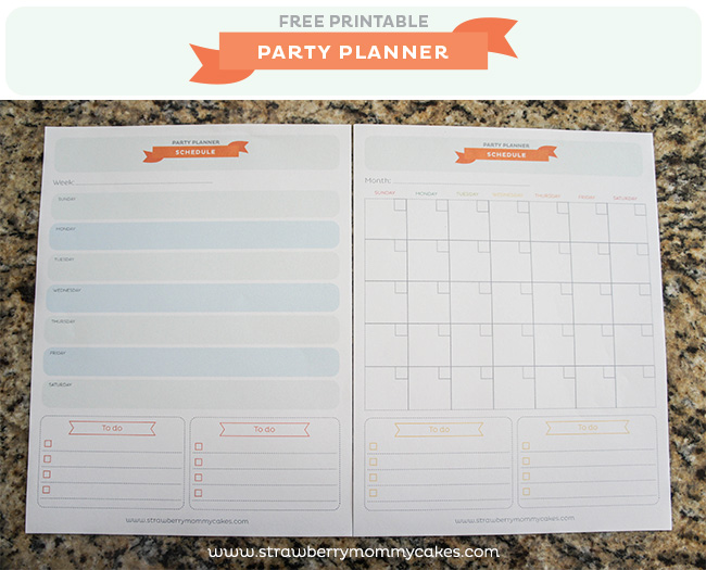 party planner templates free