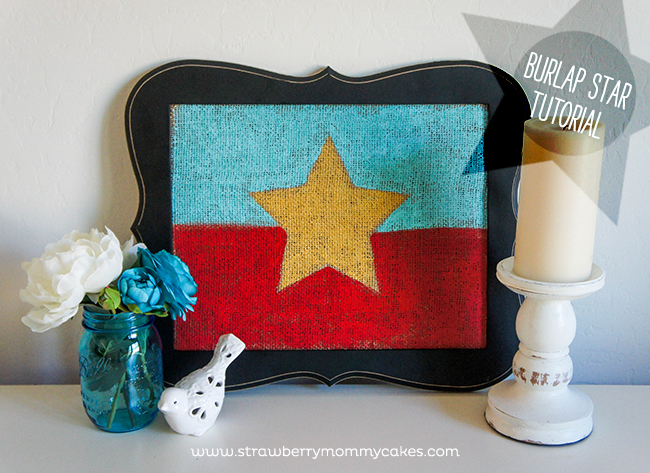 Fourth of July Burlap Star Tutorial