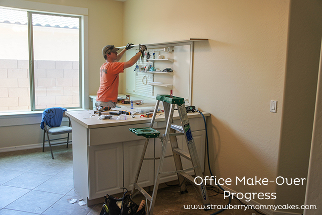 Office Make-Over Progress on www.strawberrymommycakes.com