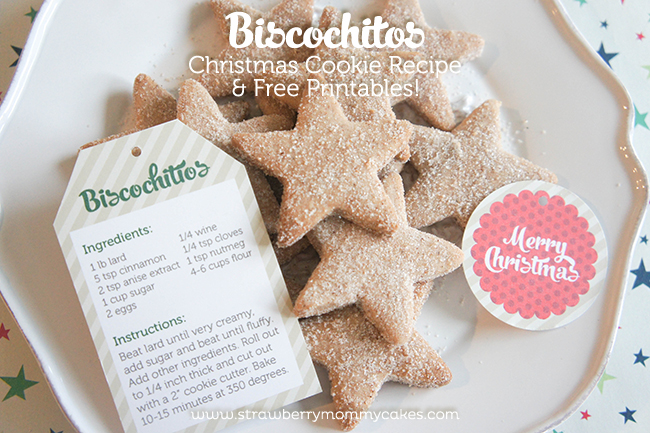 Biscochitos Christmas Cookie Recipe on www.strawberrymommycakes.com #christmasrecipe #Christmascookie