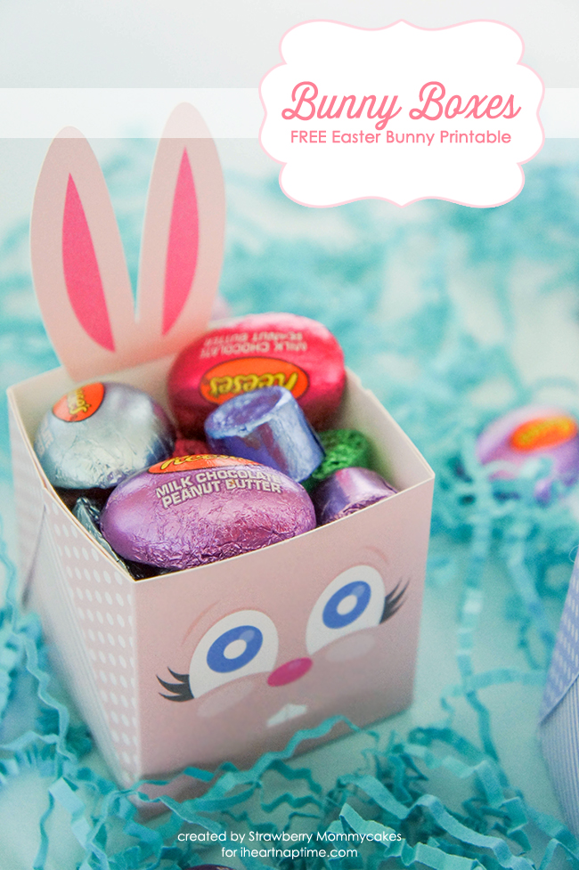 FREE Easter Bunny Boxes on www.strawberrymommycakes.com #freeprintables #freeeasterprintable #easterbunnyprintable