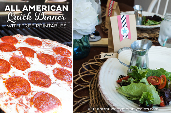 All American Quick Dinner with FREE Printables on www.strawberrymommycakes.com #SummerGoodies #shop #freeprintables