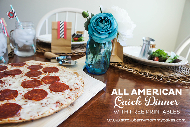 All American Quick Dinner with FREE Printables on www.strawberrymom... #SummerGoodies #shop #freeprintables
