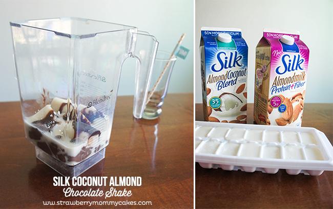 SILK Coconut Almond Chocolate Shake on www.strawberrymommycakes.com #SilkAlmondBlends  #shop #shake