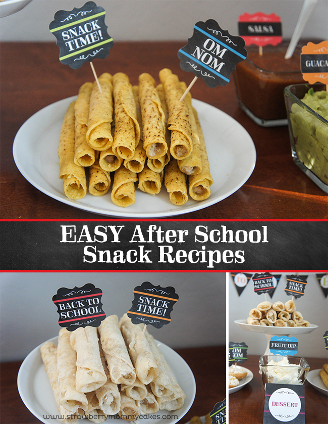 EASY After School Snack Recipes on www.strawberrymommycakes.com #AfterSchoolSnacks #shop