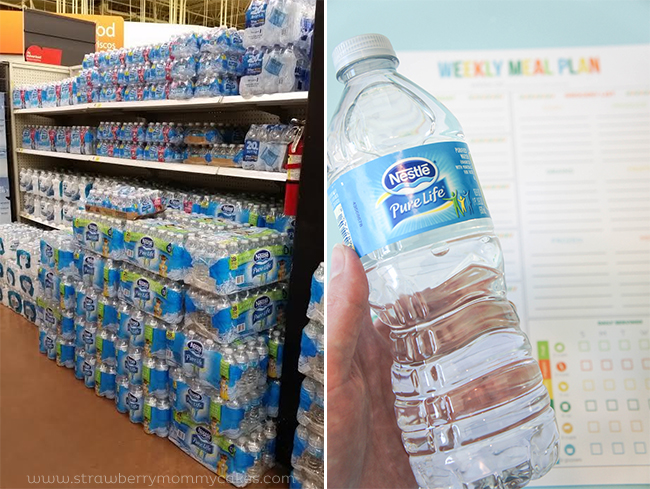 cases of water in store for meal planner post