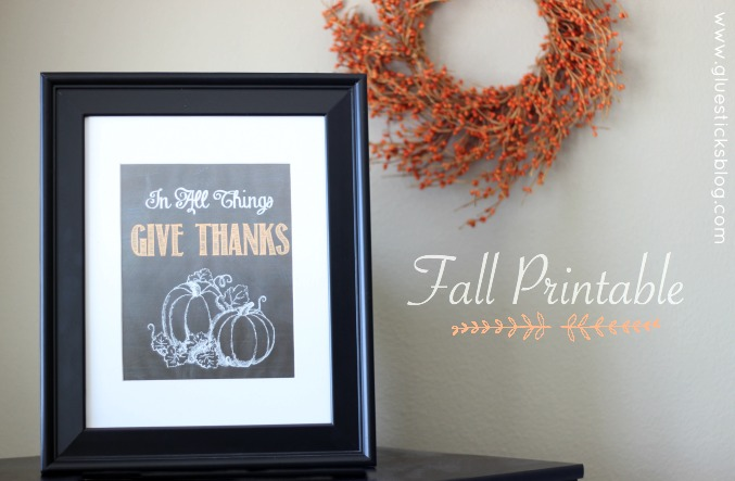 In All Things Give Thanks Printable #FridayFinds