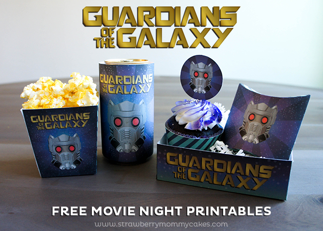 Guardians of the Galaxy FREE Movie Night Printables