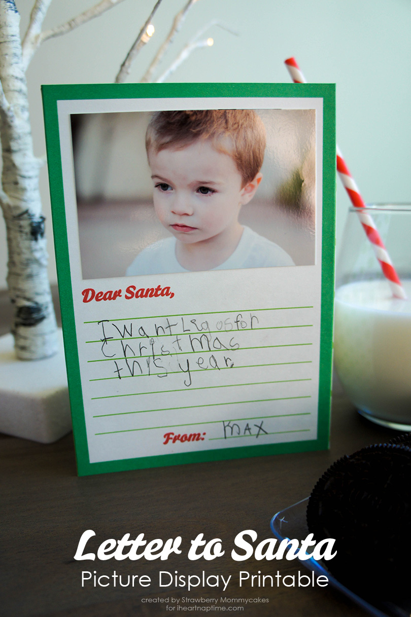 Letters to Santa Picture Display Printables