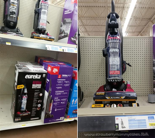 Collage of vacuums in the store