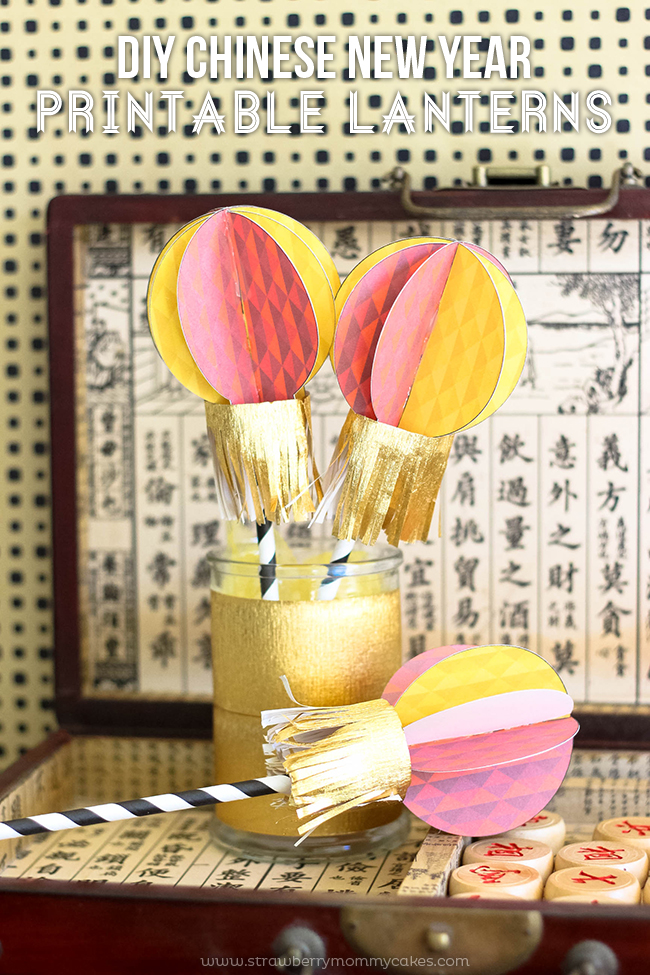 Celebrate the Chinese New Year with these DIY Printable Lanterns