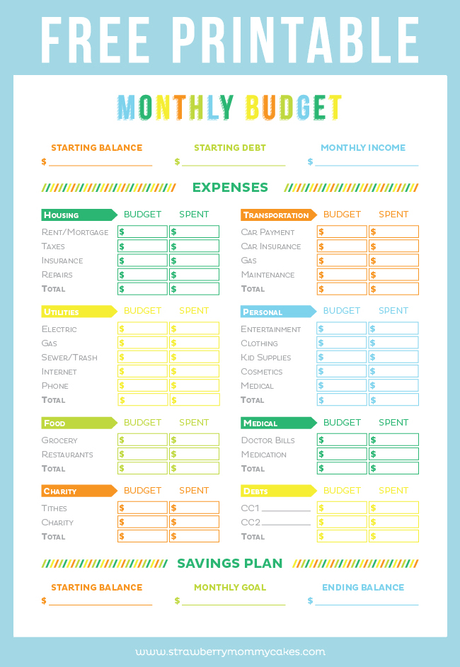 graphic about Happy Planner Budget Printable identified as No cost Printable Price range Sheet - Printable Crush