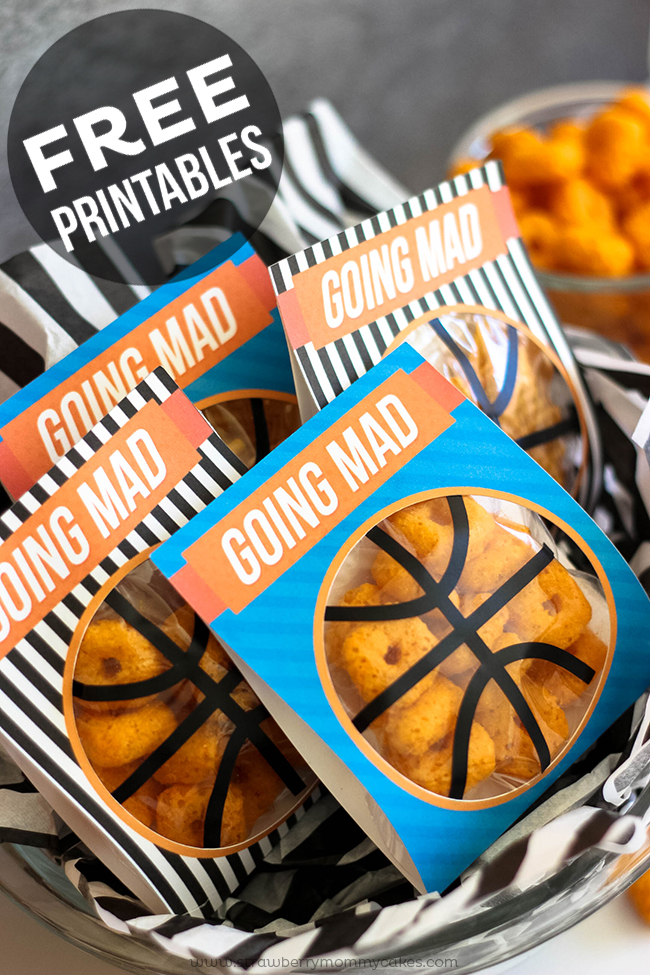 Bacon Cream Cheese Dip and FREE Basketball Snack Printables