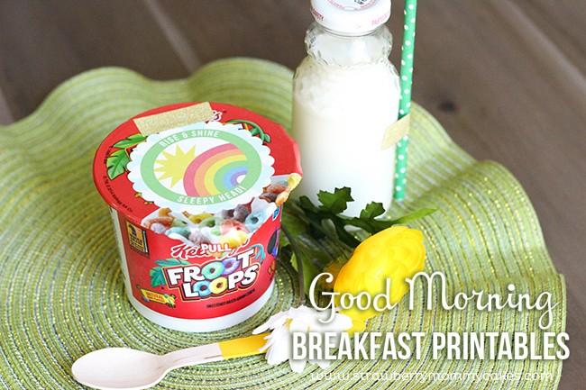Good Morning Breakfast Printables