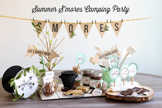S'mores Summer Camping Party-6