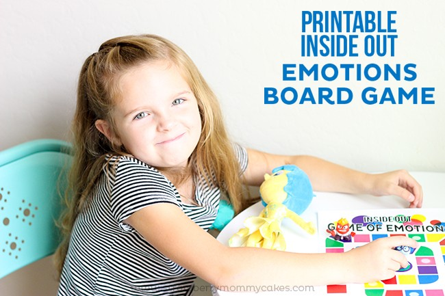 Girl playing Inside Out Board Games