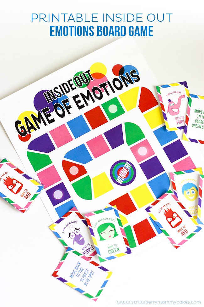Printable Inside Out Emotions Board Game inside out games