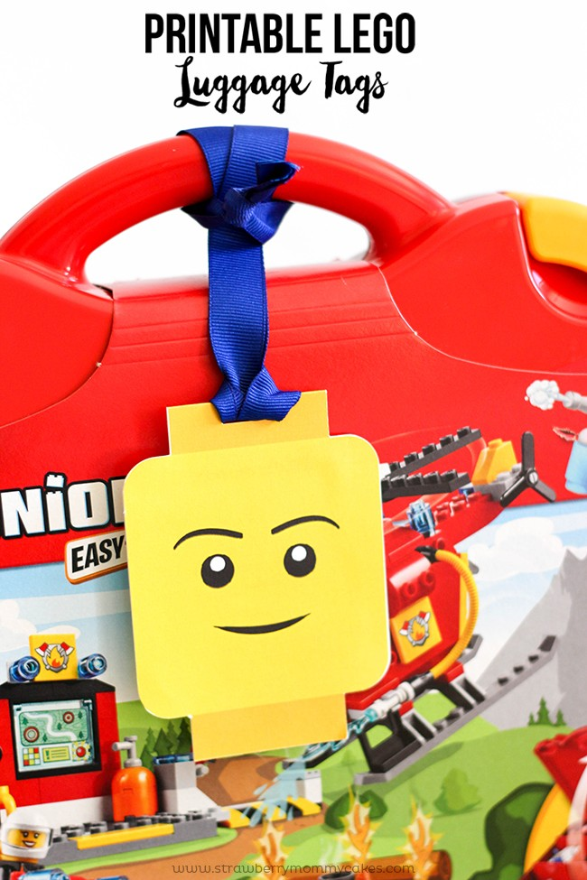 42 LEGO Crafts and Activities for Kids for Endless Fun featured by top US lifestyle blogger, Marcie in Mommyland: Printable LEGO Luggage Gift Tags