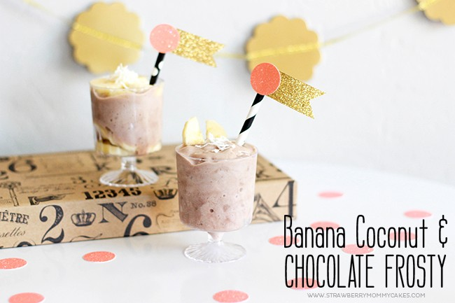 This Banana Coconut and Chocolate Frosty is delicious and only has 3 ingredients!
